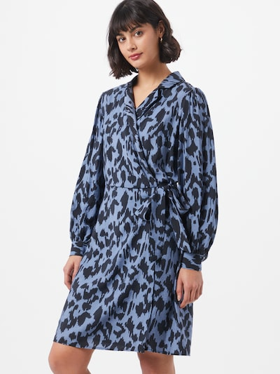 OBJECT Kleid 'Marcela' in blau / schwarz, Modelansicht