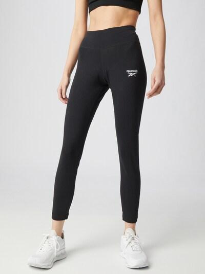 Reebok Sport Leggings in schwarz / weiß, Modelansicht