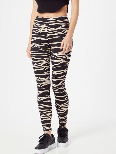 JDY Leggings  'Donna Bourne' in taupe / schwarz, Modelansicht