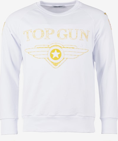 TOP GUN Sweatshirt in gelb / weiß, Produktansicht