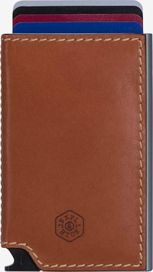 Jekyll & Hide Kreditkartenetui 'Roma' in braun / grau, Produktansicht