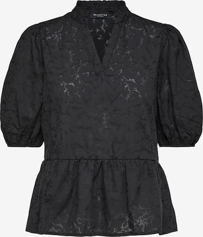 Selected Femme (Petite) Blouse 'Pernilla' in de kleur Zwart, Productweergave