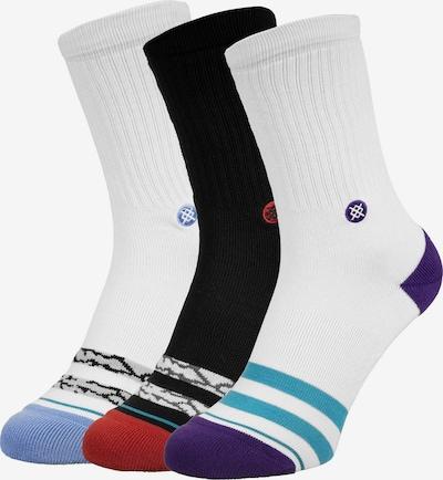 Stance Chaussettes de sport en bleu marine / bleu ciel / noir / blanc, Vue avec produit