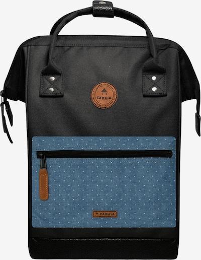 Cabaia Rucksack in rauchblau / braun / schwarz, Produktansicht