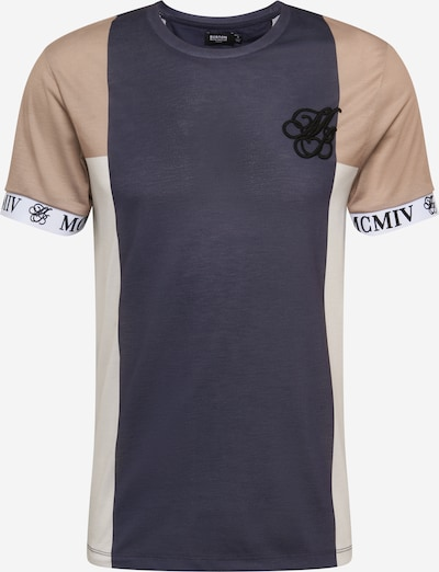 BURTON MENSWEAR LONDON Shirt in beige / dunkelbeige / navy, Produktansicht