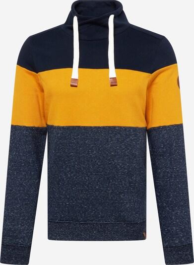 TOM TAILOR Sweatshirt in marine / nachtblau / senf, Produktansicht