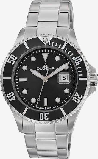 DUGENA Uhr in schwarz / silber, Produktansicht