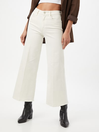 MOTHER Jeans 'THE ROLLER' in White denim, View model