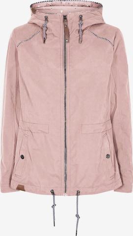 JUNGE Between-Seasons Parka 'Bridget' in Pink