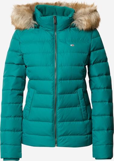 Tommy Jeans Veste d'hiver en vert, Vue avec produit
