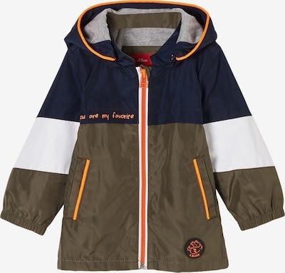 s.Oliver Funktionsjacke in marine / khaki / orange / weiß, Produktansicht