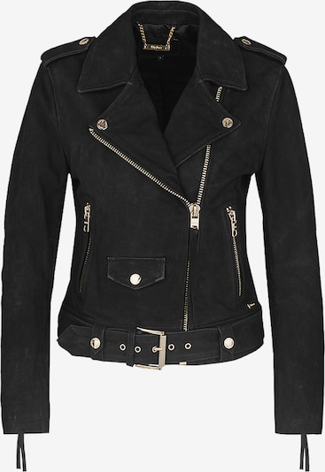 tigha Biker Lederjacke  ' All Time Fav Biker // hunza ' in schwarz, Produktansicht