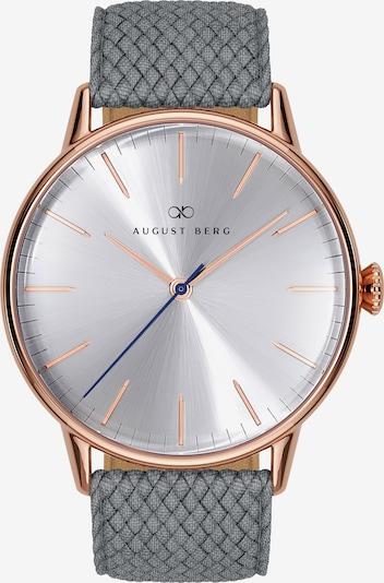 August Berg Uhr 'Serenity Simply Warm Grey Perlon 40mm' in rosegold / grau, Produktansicht