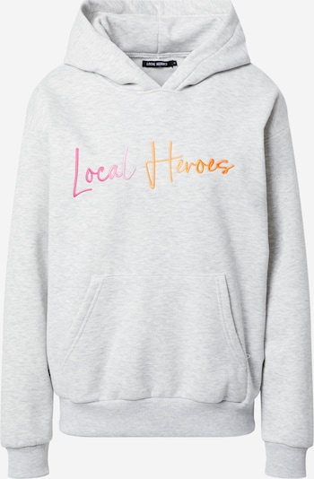 LOCAL HEROES Sweatshirt 'SUNSET' in grau / orange / pink, Produktansicht