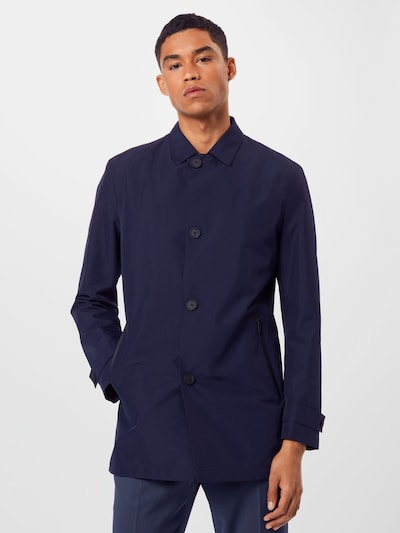 HUGO Tussenjas 'Midais' in de kleur Donkerblauw, Modelweergave