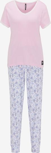 BRUNO BANANI Schlafanzug in lila / pink / weiß, Produktansicht