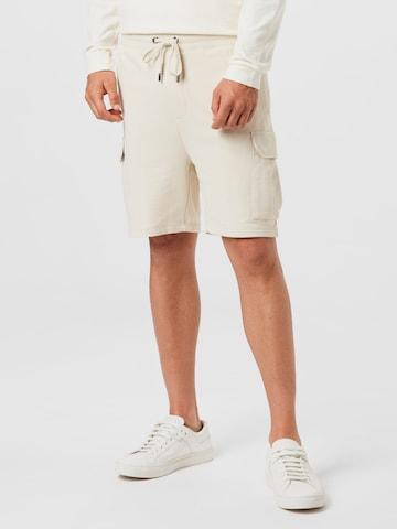 STRELLSON Klapptaskutega püksid 'Kian', värv valge