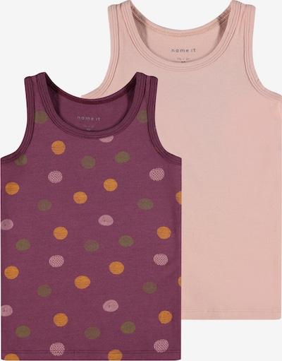 NAME IT Top in de kleur Goudgeel / Olijfgroen / Bessen / Rosa, Productweergave