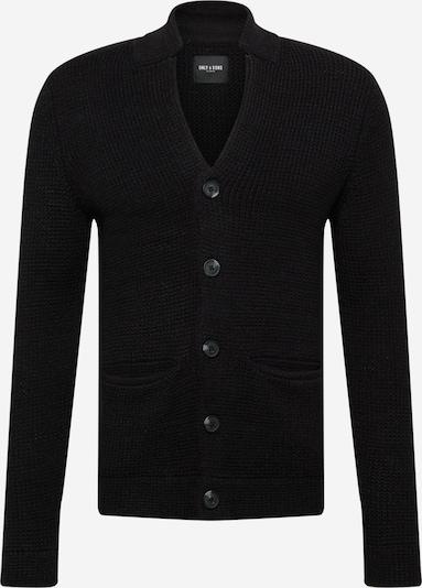 Geacă tricotată 'LAZLO' Only & Sons pe negru, Vizualizare produs