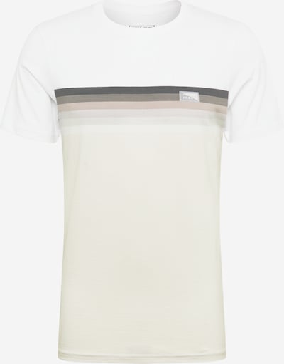 JACK & JONES T-Shirt in beige / grau / weiß, Produktansicht