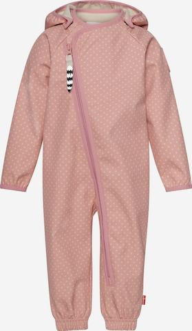 Racoon Outdoor Overall 'Ellie' in Pink