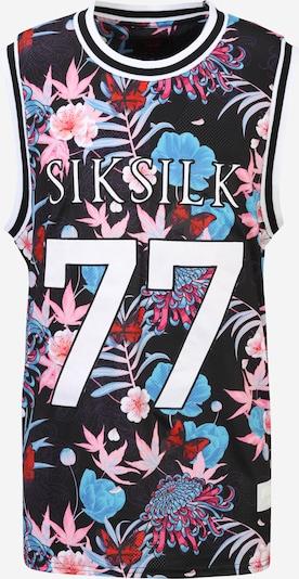 SikSilk Shirt 'Steve Aoki' in de kleur Lichtblauw / Rosa / Pitaja roze / Zwart / Wit, Productweergave