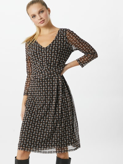 COMMA Kleid in braun / schwarz, Modelansicht