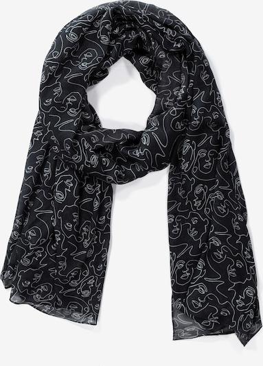 Ulla Popken Sjaal in de kleur Zwart / Wit, Productweergave