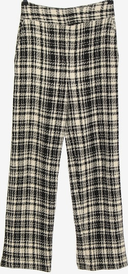 Uterqüe Pants in S in Black / Wool white, Item view