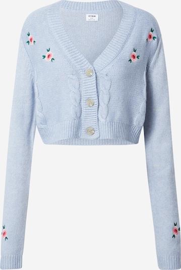 Geacă tricotată Cotton On pe albastru fumuriu / verde smarald / roz / alb, Vizualizare produs
