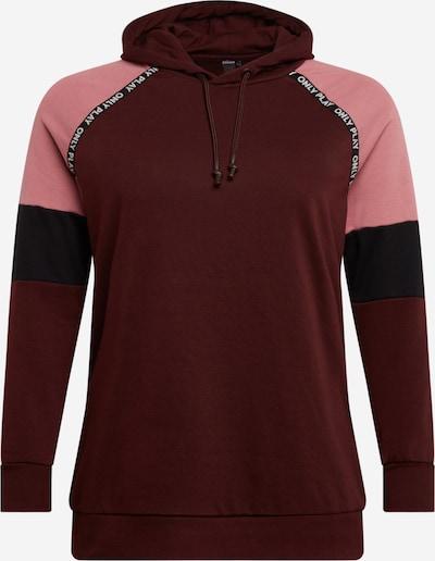 Only Play Curvy Sportief sweatshirt in de kleur Rosa / Roestrood / Zwart, Productweergave