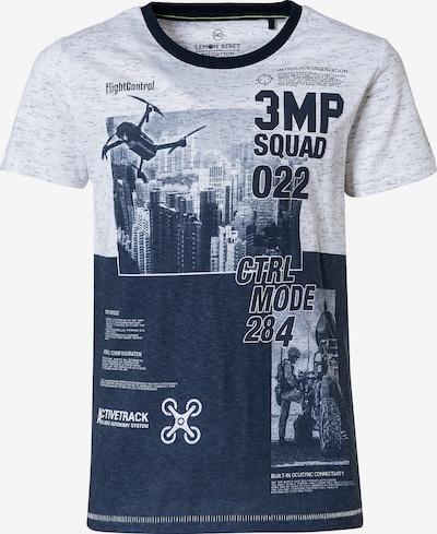 LEMON BERET T-Shirt en bleu / blanc, Vue avec produit