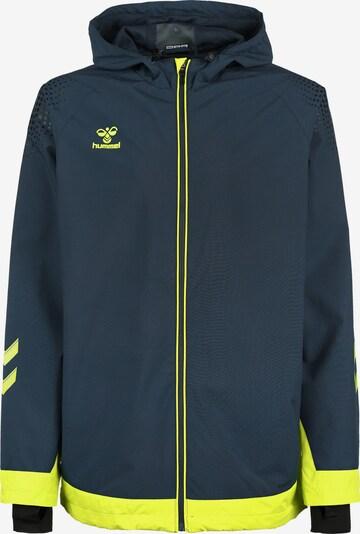 Hummel Functionele jas in de kleur Donkerblauw / Neongeel, Productweergave