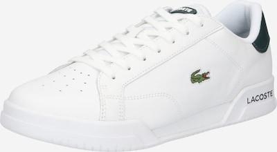 LACOSTE Baskets basses 'TWIN SERVE' en vert foncé / blanc, Vue avec produit
