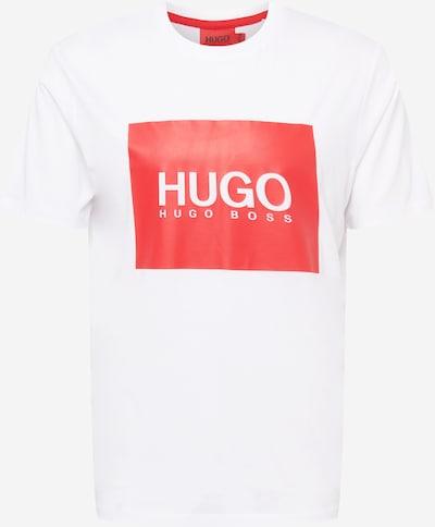 HUGO T-Krekls 'Dolive', krāsa - sarkans / balts, Preces skats