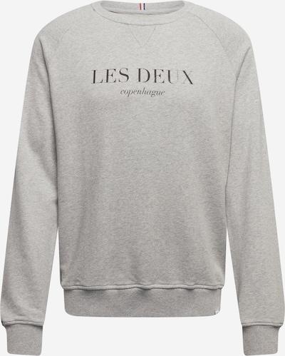 Les Deux Sweatshirt 'Amalfi' in graumeliert / schwarz, Produktansicht