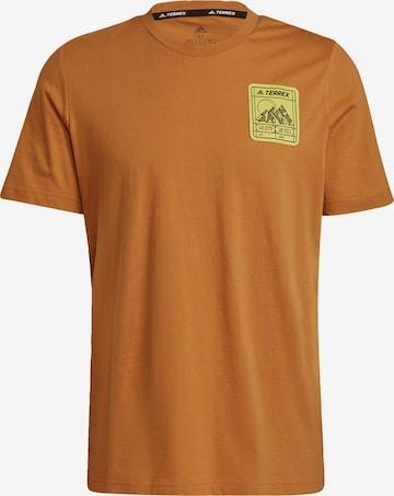 T-Shirt fonctionnel adidas Terrex en marron