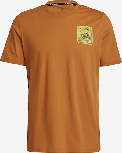 adidas Terrex T-Shirt fonctionnel en marron / jaune / noir, Vue avec produit
