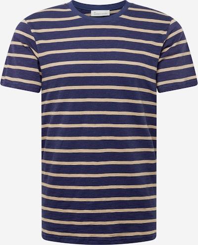Tricou 'Scott' By Garment Makers pe bej / bleumarin, Vizualizare produs