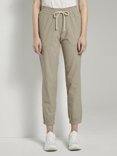 TOM TAILOR DENIM Hose 'Relaxed trackpants Trouser' in beige, Modelansicht