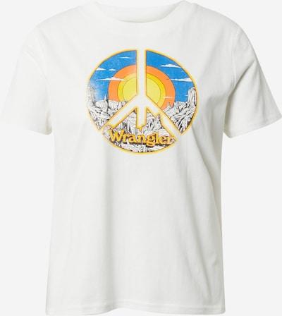 WRANGLER Camiseta en mezcla de colores / blanco, Vista del producto