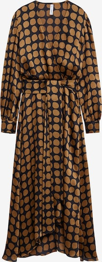 MANGO Kleid 'Sabi' in karamell / schwarz, Produktansicht