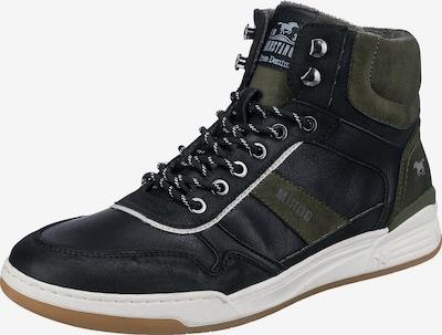 MUSTANG Sneaker high in oliv / schwarz / weiß, Produktansicht