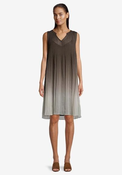 Vera Mont Sommerkleid mit Plissee in khaki, Modelansicht