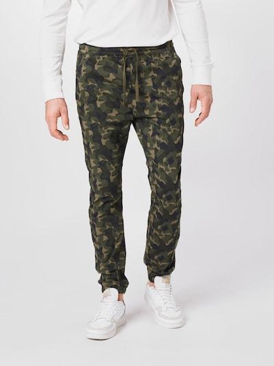 LEVI'S Pantalon 'JOGGERS' en beige / bleu foncé / olive, Vue avec modèle