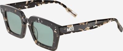 McQ Alexander McQueen Solglasögon i ljusbrun / svart / silver / vit, Produktvy