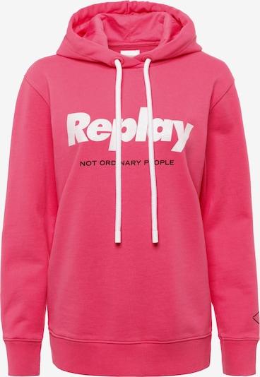 REPLAY Kapuzensweatshirt in pink, Produktansicht