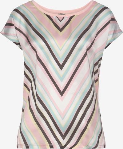 LAURA SCOTT Bluse in braun / gelb / hellgrün / hellpink / weiß, Produktansicht