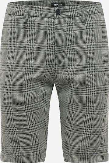 REPLAY Shorts in graumeliert / schwarz, Produktansicht