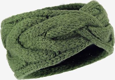 LOEVENICH Strickstirnband ' mit Zopfmuster ' in khaki, Produktansicht